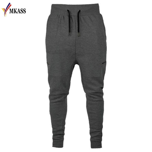 S 2xl Men Joggers Feet Pants Soild Sweatpants Pocket Cozy Casual Simple Cotton Male