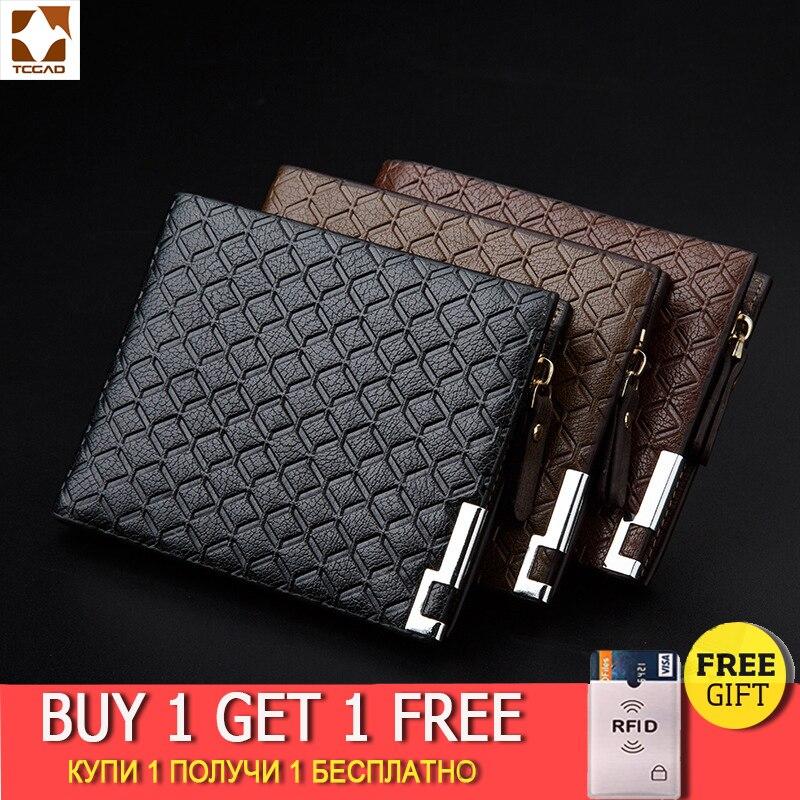 TCGAD man wallet 2019 short purse billetera hombre porte feuille PU male big pocket skin wallets 2019 vintage luxury man purse wallet