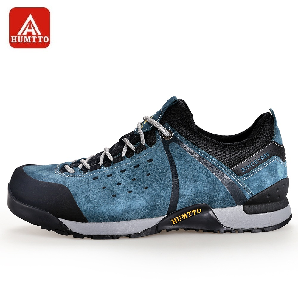 HUMTTO Men s Walking Shoes Winter Outdoor Non slip Wear resistant Climbing Boots Lace up Breathable