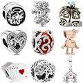 Панковские Этнические украшения, бриллиантовый конус, звезды, робот, бусины из сплава, подходят для браслетов Pandora, винтажные браслеты для ж...