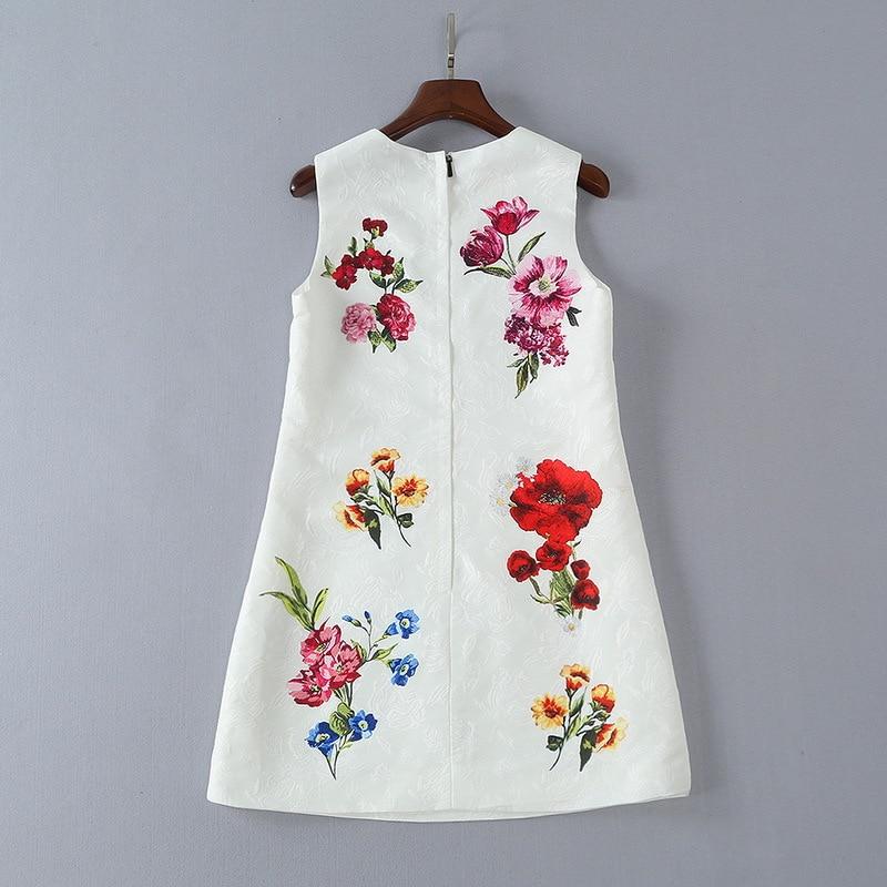 Wei Neue Engel Vintage Sommer Qyfcioufu Kleid Retro Sleeveless Track Frauen Hochwertige 2018 Pailletten Floral Bedruckte Mode v8NOmn0w