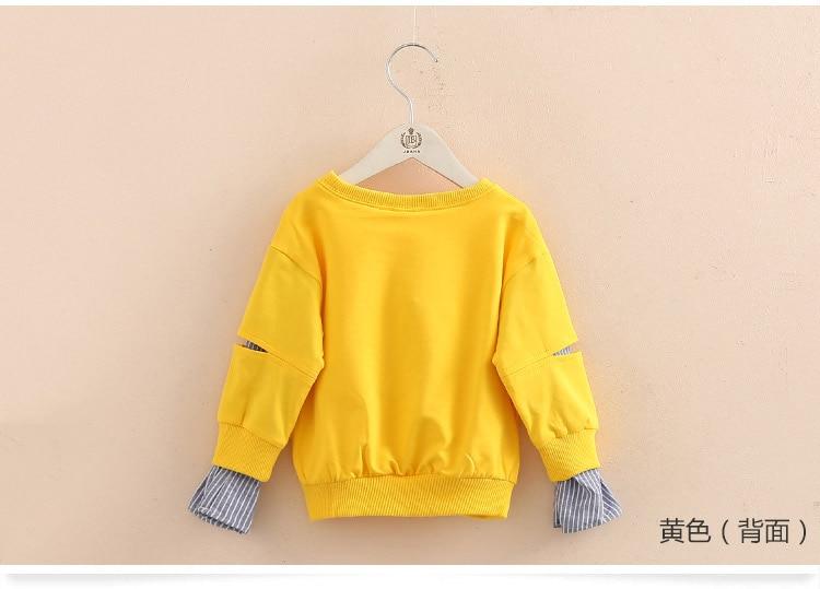 2018 Spring Autumn 2-10 11 12 Years Old Teenager Children Patchwork Fake 2 Pcs Baby Kids Basic Sweatshirt For Girls 11 12 Years (9)