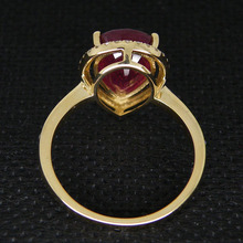 Fantastic Natural Diamond Red Ruby Ring Earrings Pendant in 14K Yellow Gold