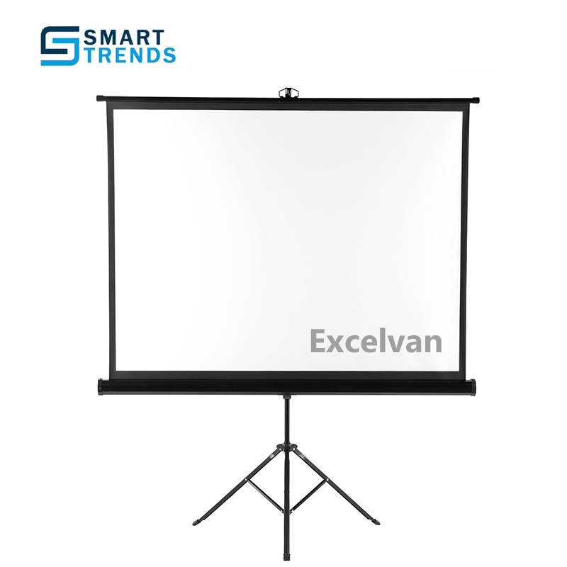 "Portable 100/"" 4:3 HD Projection Projector Screen Pull Up with Tripod Stand"