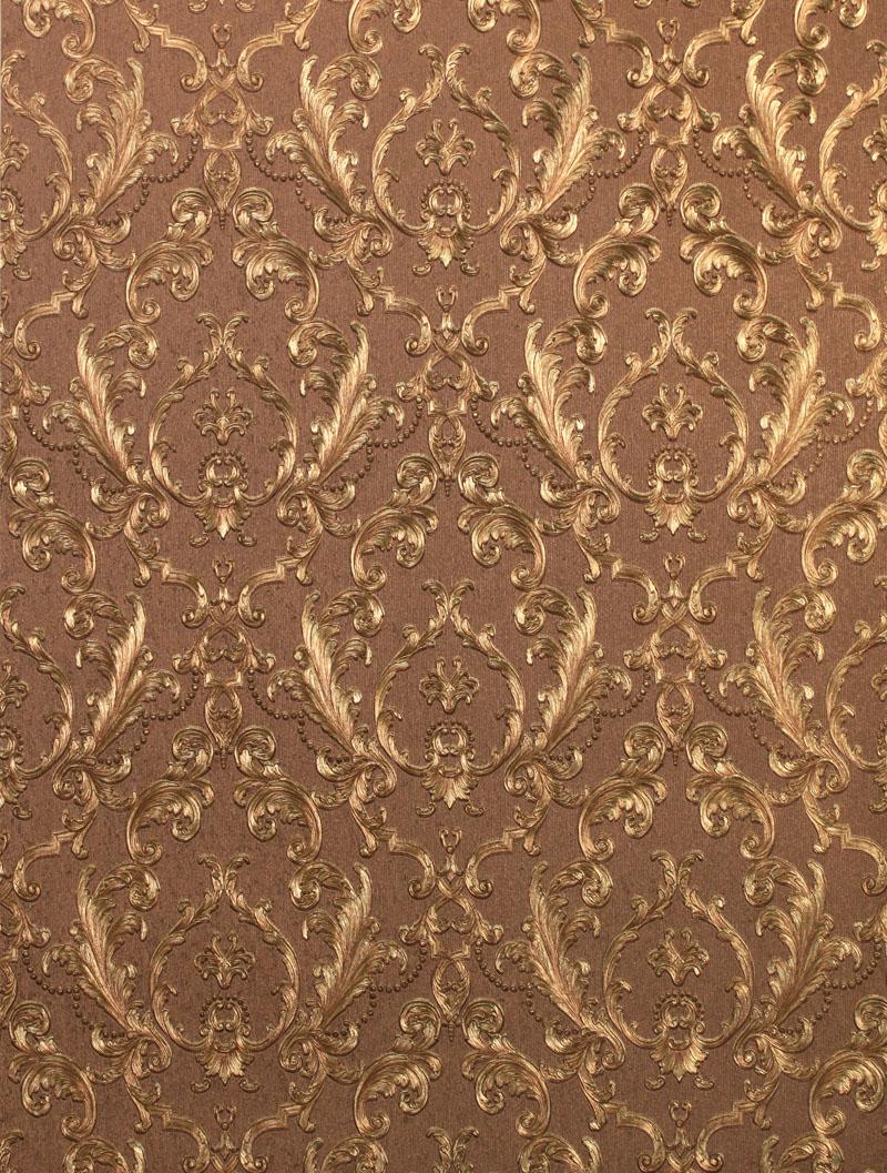 Klasik Eropa Luxury Emas Foil Wallpaper 3d Mewah Bunga