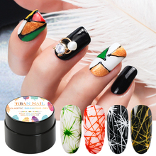 RBAN NAIL Pure Spider Gel Polish Wire Elastic Drawing Painting UV Gel Polish Soak Off Pulling Silk Spider Nail Art Lacquer стоимость