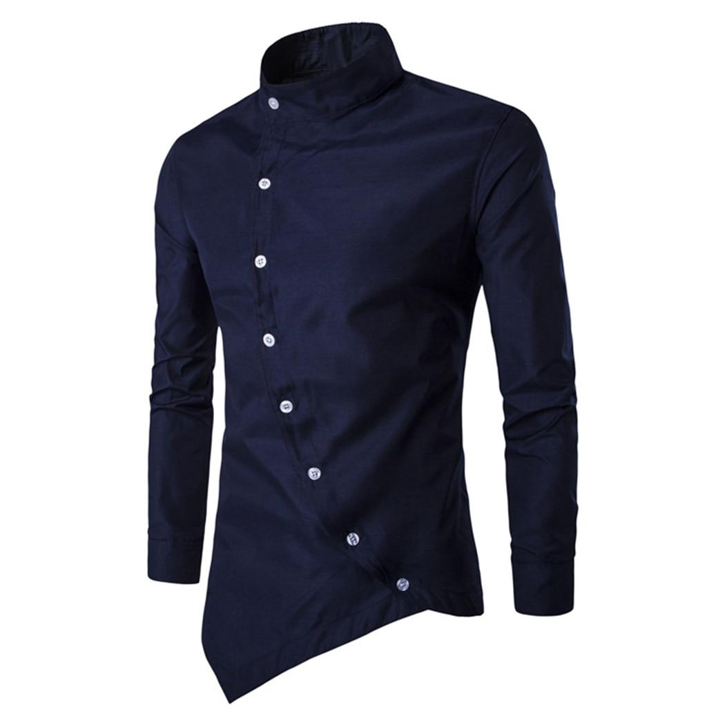 2018 Marke Mode Plus Größe Männer Klassische Lange Ärmeln Kleid Shirts Formale Einfarbige Herren Shirts Tops Camisa Masculina Perfekte Verarbeitung