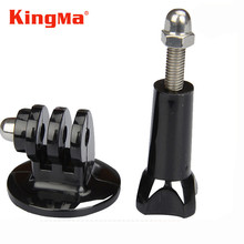KingMa Gopro Hero4 Hero3 Tripod Mount+Screw Gopro Monopod Adapter Accessories for Camera Go pro hero 4 3 2 SJ4000 Xiaomi Yi 4k