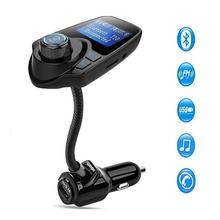 Wireless In-Car Radio Adapter MP3 Player Car Kit With USB Car Charger Input Display micro-SD card Slot Display Bluetooth