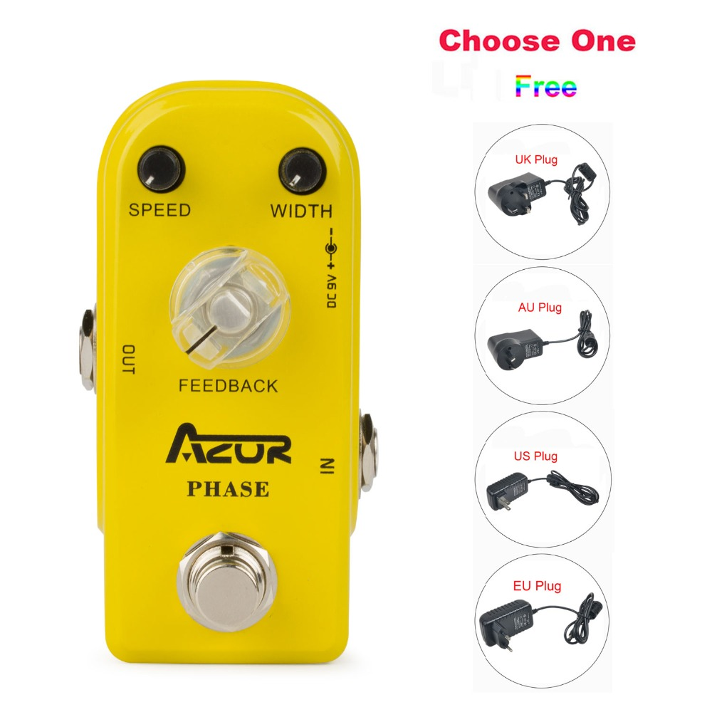 AP-301 Phase Mini Guitar Effect Pedal Aluminum Alloy with Ture Bypass+9V1A Adapter and 8 Heads Multi-interface Connecting Cable mooer ensemble queen bass chorus effect pedal mini guitar effects true bypass with free connector and footswitch topper