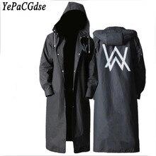 Best selling high quality EVA black adult raincoat Allen Walker pattern men and women long climbing poncho waterproof
