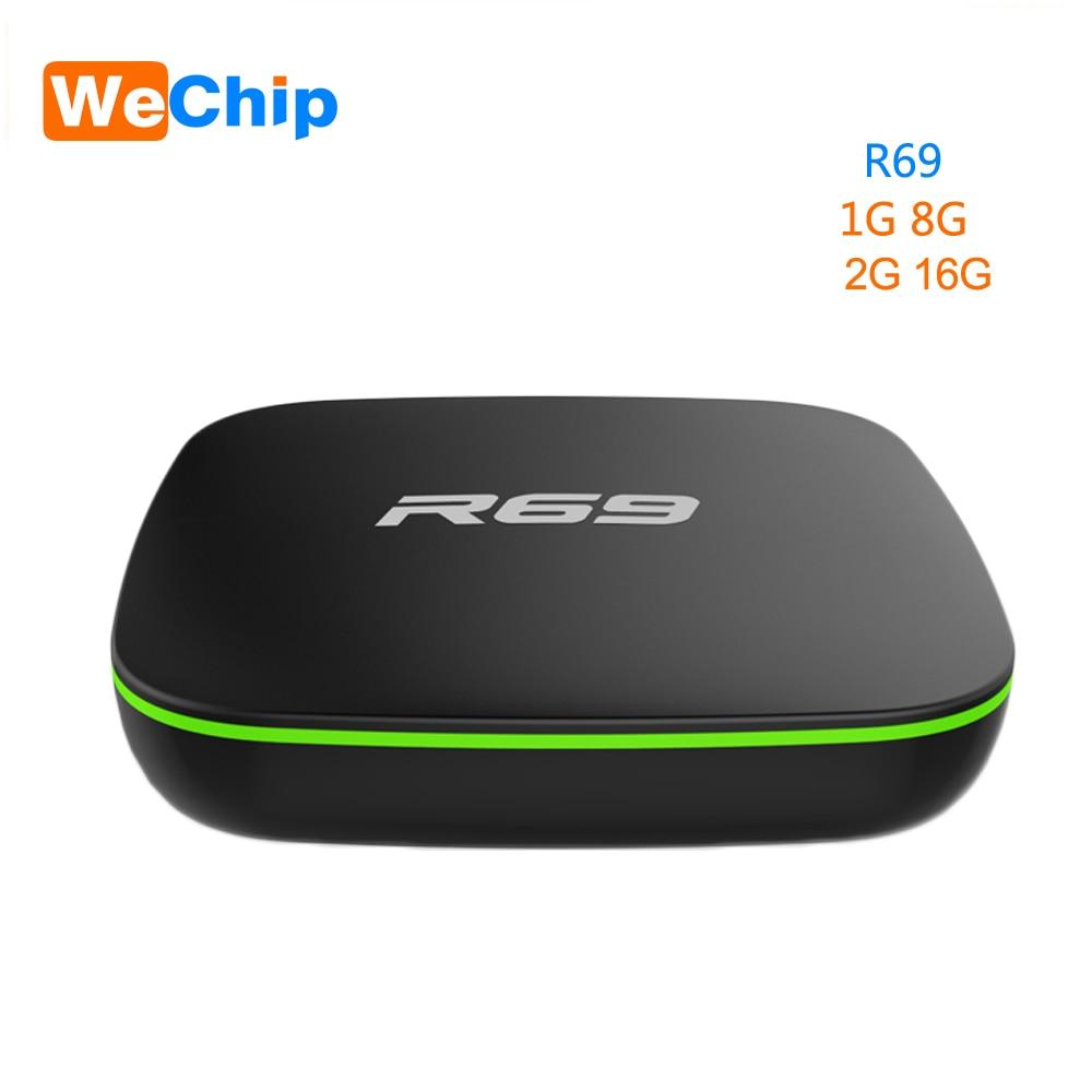 Wechip R69 Smart Android 7,1 caja de TV 1 GB 8 GB Allwinner H3 Quad-Core 2,4G Wifi Set top Box 1080 P HD soporte 3D película reproductor multimedia