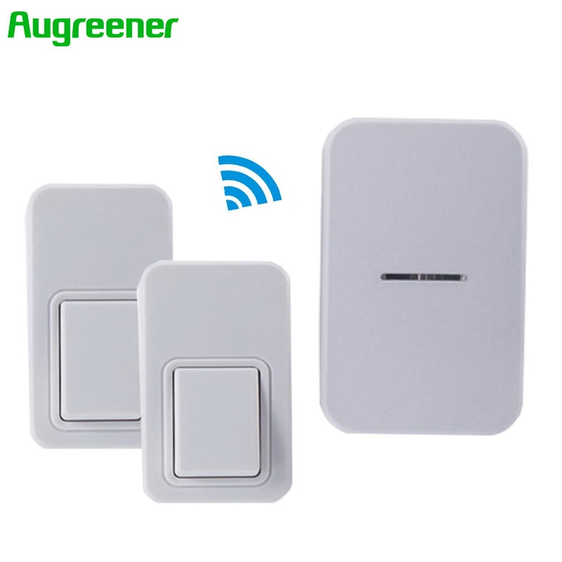 Waterproof Wireless Doorbell 220V Home Romote Electric Cordless LED Light Wireless Bell 2Transmitter+1Receiver Bell 25 Chime wireless cordless wireless dental equipment endo motor 16 1 contra angle