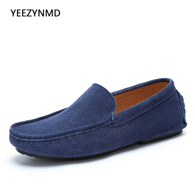 2017 Summer Loafers Men Shoes Casual Genuine Leather Flats Shoes Soft Male Moccasins Breathable Slip on Driving Boat Shoes big size 39 48 men flats summer genuine leather loafers breathable driving shoes moccasines slip on male casual shoes xk032808