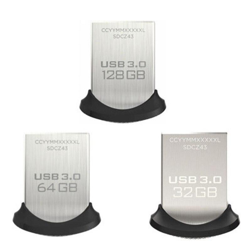 SanDisk 128GB 64GB 32GB USB Flash Pendrive USB 3.0 Stick 128GB Flash Drive USB 128gb 64GB 32GB Pen Drives Flashdisk Ultra U Disk
