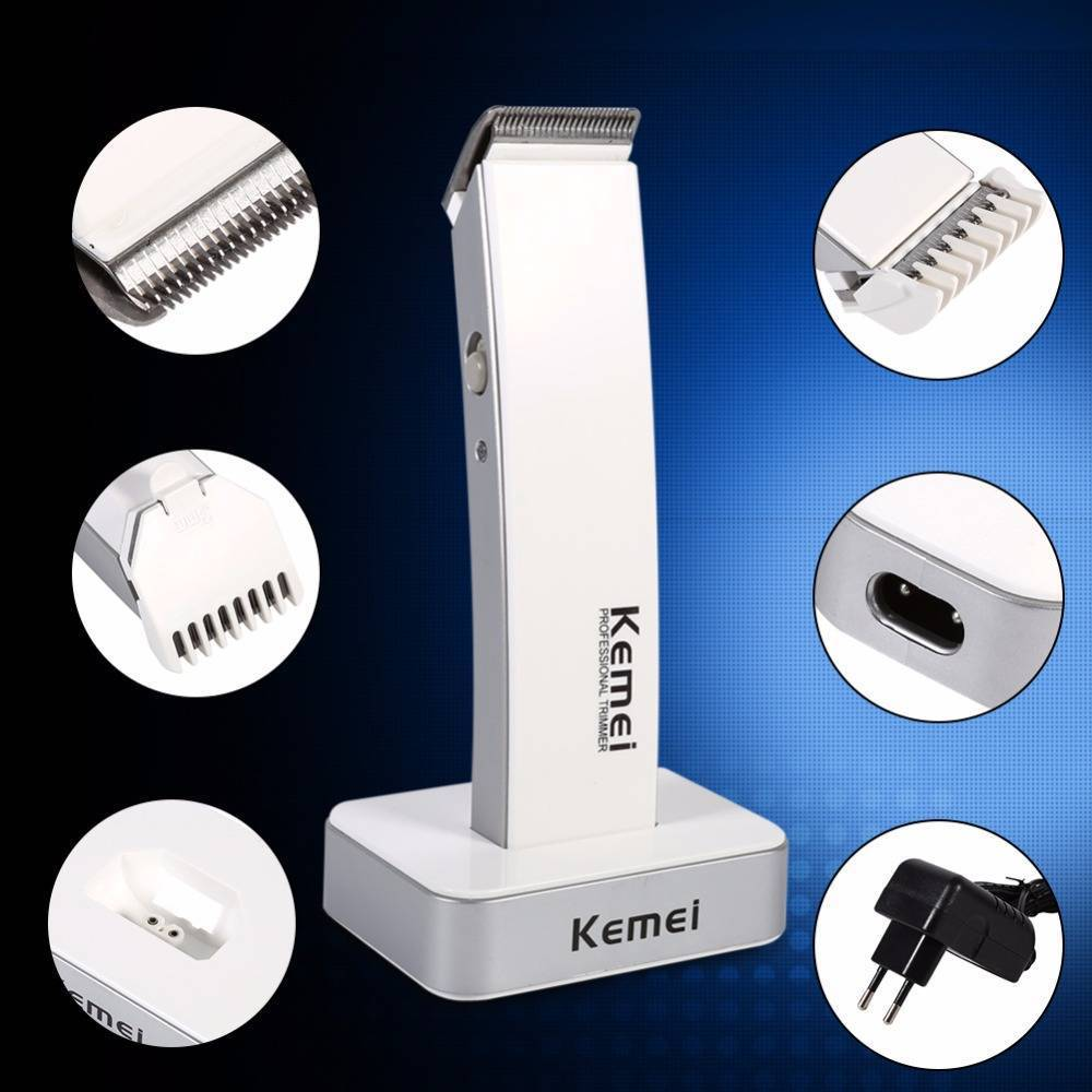 1 Set High Quality Black/White Color Electric Rechargeable Mens Hair Removal Clipper Trimmer Beard Shaver Razor Kit Tool