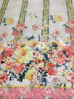 New African Wax Prints 100 Silk Fabric For Sewing Dobby Lace Super Printed Stretch Satin Textile