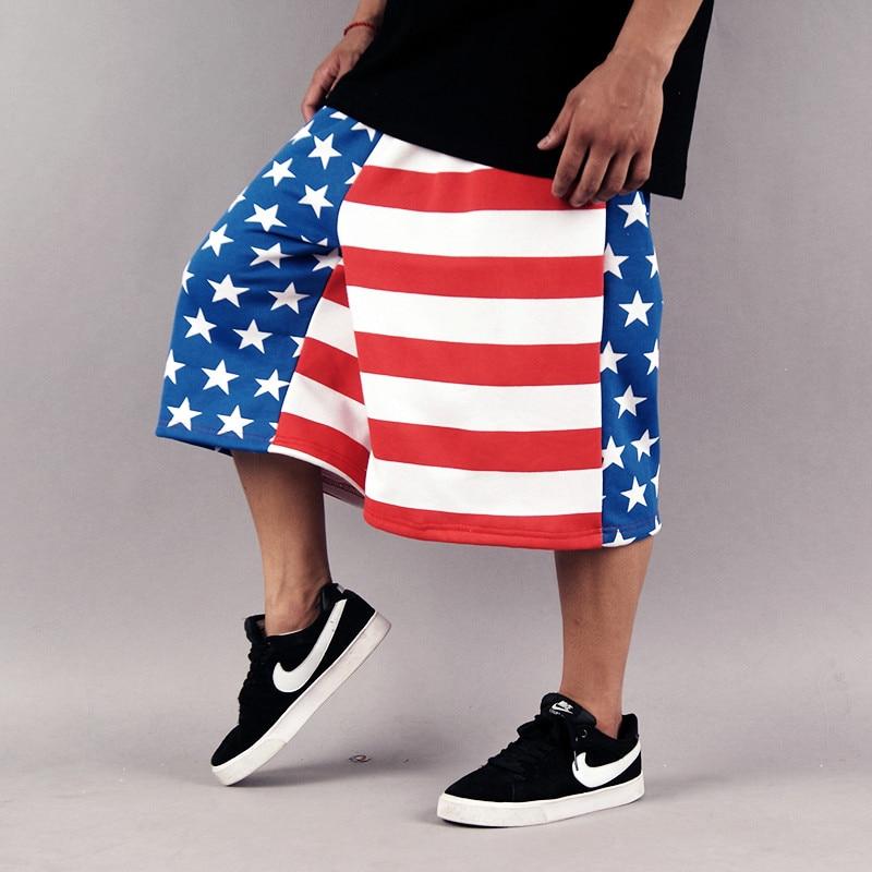 mens 2014 hiphop fashion usa long baggy shorts mens big and tall ...