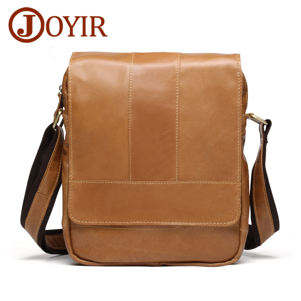 JOYIR 2018 Men's Bags Genuine Leather male Travel Crossbody Bags Casual Flap Men Leather Messenger Bag Men's Shoulder Bag 8671 цена 2017