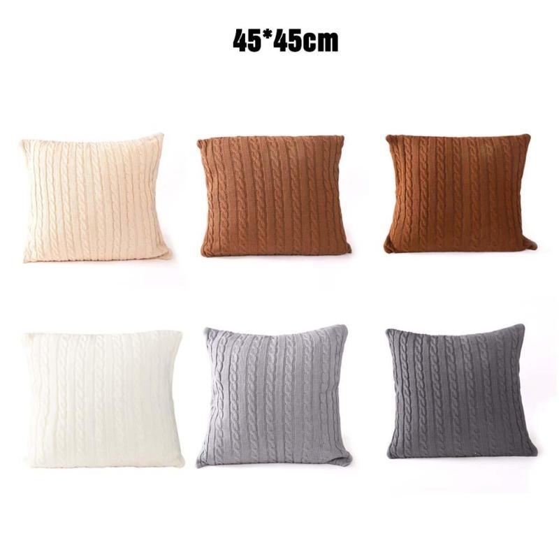 Tejer lana de minimalismo moderno blanco gris Beige de almohada de ...