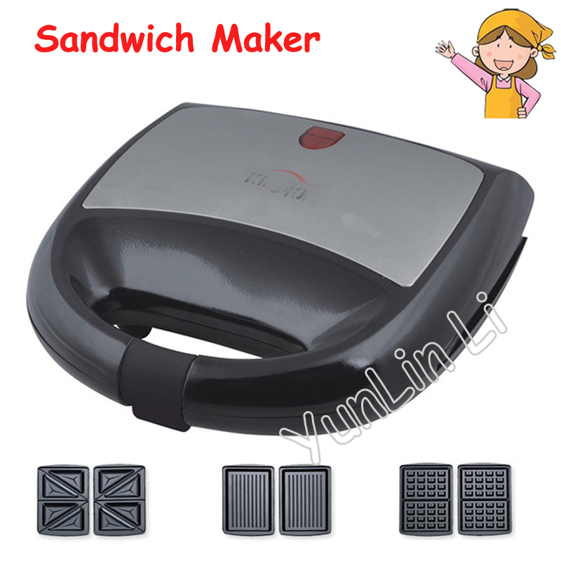 Small Breakfast Toaster Sandwich Bread Maker Machine for Household in White Color KY-18 cukyi 2 slices bread toaster household automatic toaster breakfast spit driver breakfast machine