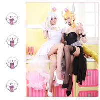 Japanese Game Super Mario Bros Women Cosplay costumes rincess King Boo Princess Bowsette Kuppa Koopa Cosplay Costume ball gown