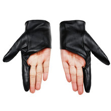 New Arrival Party Leather Gloves Dancing Women Showing Black Gold White Red Fingerless Sexy Ladies
