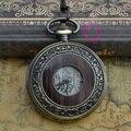 Купон для оптовой цены покупатель хорошее качество моды ретро античная бронзовая дерево человек мужская эмаль механические карманные часы час