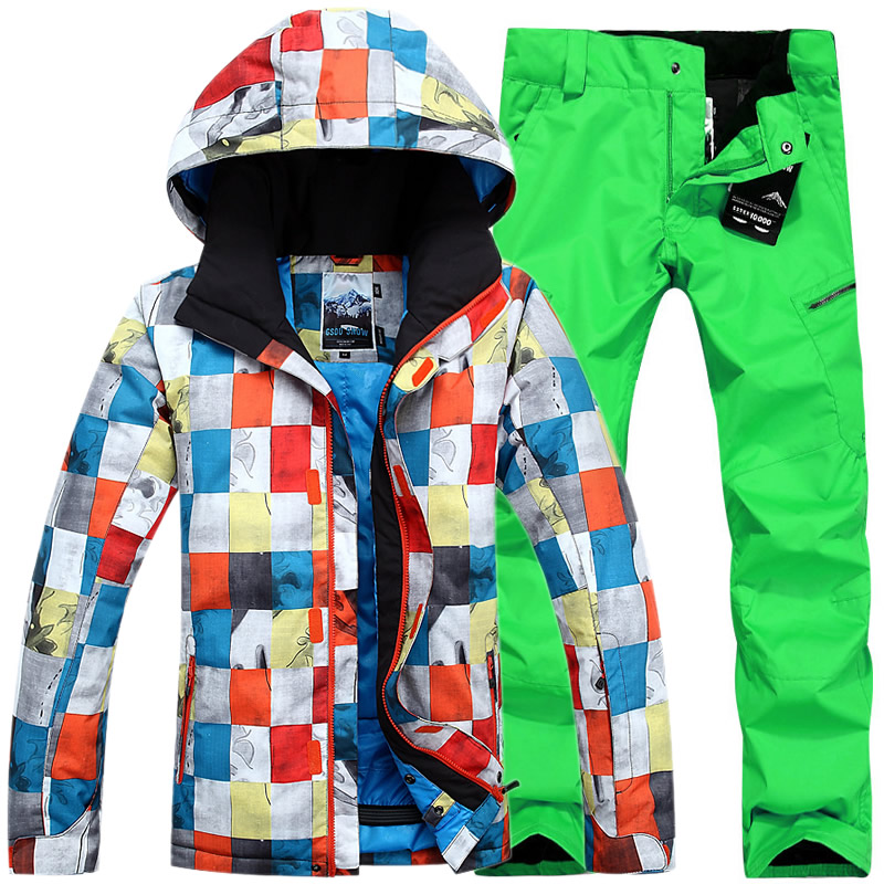 80806415b73 Aliexpress.com   Buy Winter Gsou Snow ski suit snowboard jacket and skiing  pants waterproof ski suits for men warm windproof skiwear from Reliable snow  ski ...