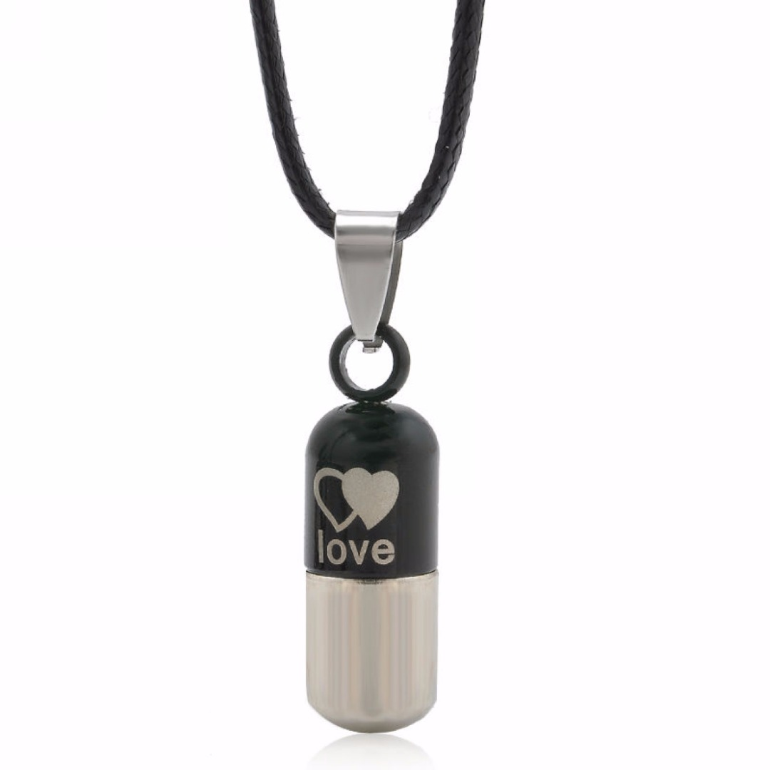 Classic Metal Urn Cremation Chain Necklace Shellhard Ash Holder Keepsake Love Pendant Necklaces Charm Jewelry For Women Men