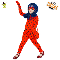 New Arrivals Children Miraculous Ladybug Costume Ladybug Cosplay For Girls Movie Role Play Performance Show Party