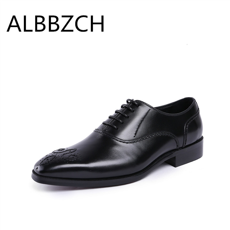 Genuine leather oxfords men shoes fashion luxury design wedding dress shoes pointed toe lace mens high quality office work shoesGenuine leather oxfords men shoes fashion luxury design wedding dress shoes pointed toe lace mens high quality office work shoes