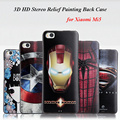 Mi5 Case Original 3D Stereo Relief Painting Phone Bag Matte Silicon Back Cover For Xiaomi Mi5 Spiderman Cartoon Protector Case