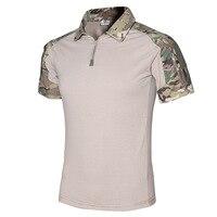 2017 Tactical Camouflage Army Combat Shirt Men Multicam Military Uniform Short T Shirt SWAT Militar Airsoft