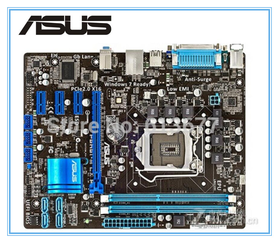 все цены на original motherboard ASUS P8H61-M LX PLUS LGA 1155 DDR3 boards H61  Desktop motherboard free shipping в интернете