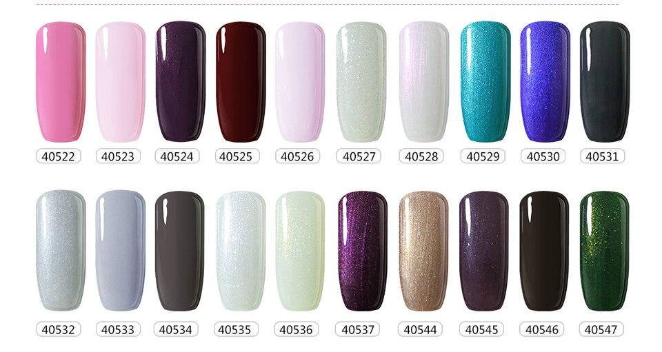 10ml Any 10 Colors Bling UV Gel Nail Polish Neon Yellow Mint Color ...
