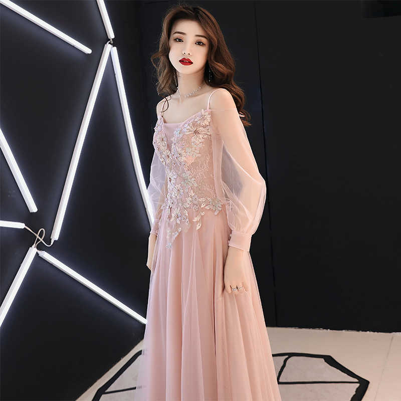 bf2e66cb8cfe Spring Korea Style Princess Gowns Chiffon Beach Dresses Elegant Pink  Appliques Wedding Dress For Women Noble