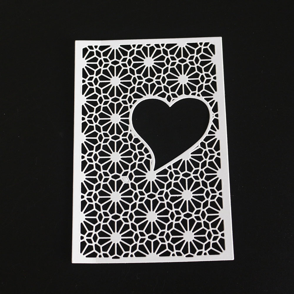 Bi fujian love backdrop Metal Cutting Die Crafts Embossing Scrapbooking Dies Carbon Cuts Paper Card Stencil For Albums Decor