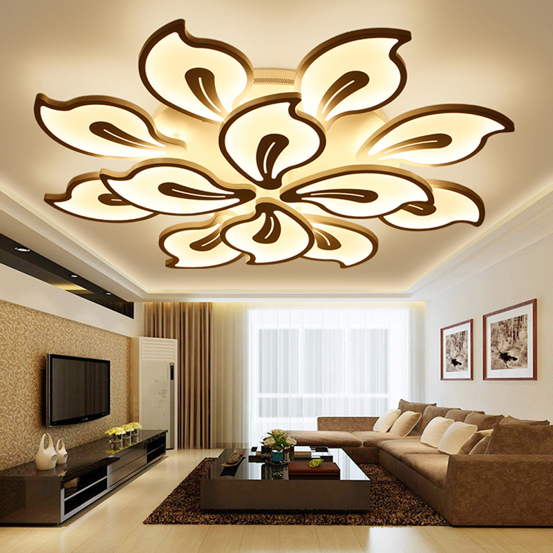 New Modern led ceiling lights for living room bedroom Plafon home Lighting combination White and Black