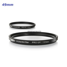 Professional Photographic Gear Selens PRO Ultra-thin UV Filter Cover Lens Protecting Lens Protector 49mm with Storage Container