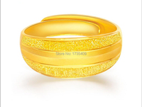 Solid 24K Yellow Gold Ring / Craved Men's Heavy Ring/Us Size:4 10 / 9 10g