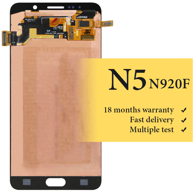 For Samsung Note 5 lcd display OEM quality for mobile phone N9200 N920 screen replacement lcd screen assambly 100% testedFor Samsung Note 5 lcd display OEM quality for mobile phone N9200 N920 screen replacement lcd screen assambly 100% tested