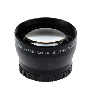 Image 4 - 49mm 2X magnification Telephoto Lens for Canon EOS M5 M6 M50 M10 M100 M200 camera with 15 45mm Lens