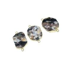 Очаровательное женское ожерелье из натурального камня с соединителем