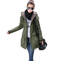 2016 New Women Winter Jacket Coats Thick Warm Parkas Plus Size Hooded Outwear Female Cotton Coat