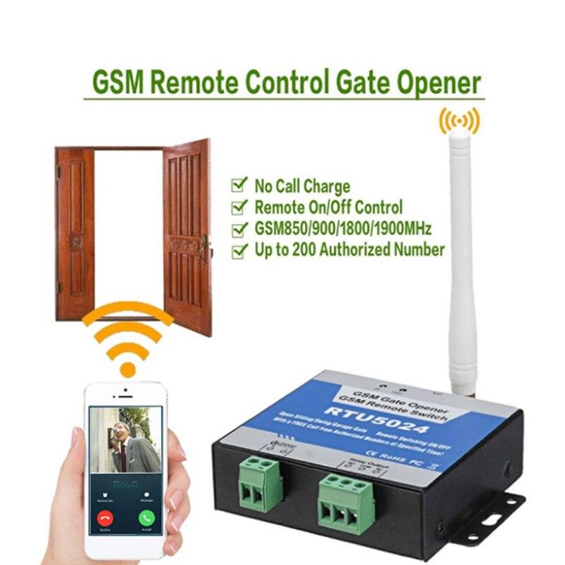 DC Version version RTU5024 GSM Gate Door Opener Wireless remote controller Relay Remote Switch Access Control