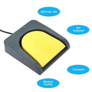 Image 2 - PCsensor USB יחיד רגל מתג שליטה אחד מפתח מותאם אישית מחשב מקלדת פעולה דוושת אפור עם צהוב