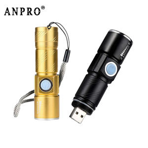 Anpro Mini USB LED Flashlight for Outdoor Camping Hiking Light
