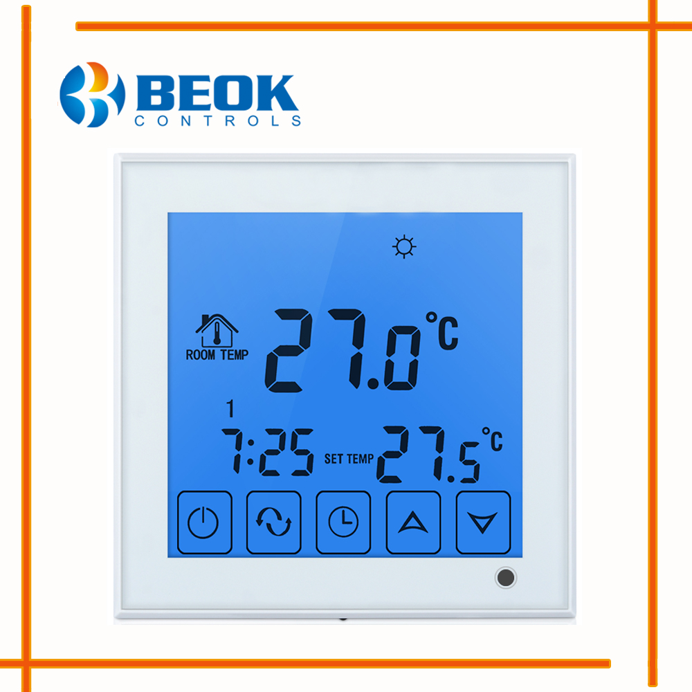 Bot 313w Wired Digital Room Thermostat For Gas Boiler Heating Mm 2 58t Wiring Diagram Bot323 Thermoregulator Blue Backlight Touch Screen Battery Powered Temperature Controls