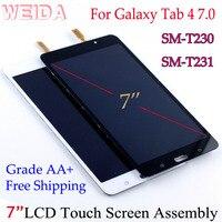 "Weida lcd replacment 7 ""para samsung galaxy tab 4 7.0 SM T230 SM T231 display lcd montagem da tela de toque t230 wifi/t231 3g|Painéis e LCDs p/ tablet| |  -"